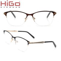 Bisagras de resorte flexible gafas Gafas de óptica de metal inoxidable mayorista marcos