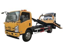 De nieuwe Vrachtwagen van Wrecker van het Slepen van het Merk van de Redding van de Weg van 2 Assen Japanse Flatbed met de Hydraulische Plaat van het Staal