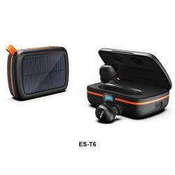 무선 이어버드 Solar 160시간 재생 Hi-Fi 스테레오 Bluetooth 5.0 헤드폰 USB-C 급속 충전 케이스 CVC8.0 잡음 제거 마이크 방수 기능 포함 을 터치합니다