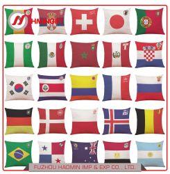 2018年のワールドカップの上32のフットボール・チームのフラグの把握綿の枕箱棒クラブソファーの枕ギフト