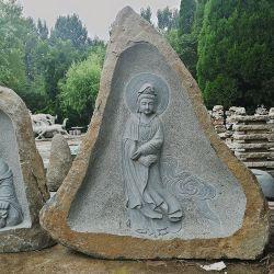 屋内装飾の工場カスタム実物大手によって切り分けられるKuanyin仏の彫像の花こう岩の石の仏の彫刻のGuanyinの彫像