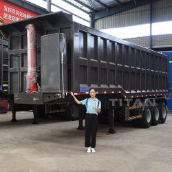40 куб задний 50-60 тонн кузов самосвала в полуприцепе коробчатого типа для продажи