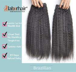 La mano de obra en bruto de extensión de cabello 105g (+/-2g) /Bundle Brasileño de Cabello Natural virgen Kinky Curly recta Cabello Humano 100% de los tejidos grado 10A