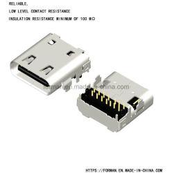 Power Delivery 3.1 Type C USB ソケット用 USB Type C レセプタクルおよびプラグコネクタ