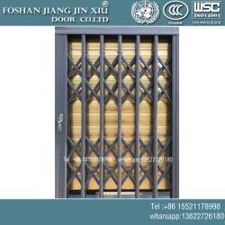 Push-Pull de aleación de aluminio Slide Gate, Telescópica puerta antirrobo