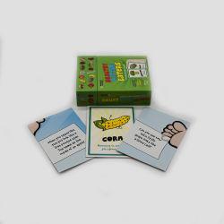 四色刷はゲームの火かき棒のカードをしている子供を個人化した
