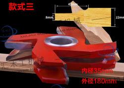 Kombinations-bearbeitet gemeinsame Scherblock-Hartmetall-Messer-hölzerne Verbindung Tct-Finger-Verbindungs-Scherblock-Holz für den Türrahmen, der Former-Messerkopf mit innerem Loch herstellt