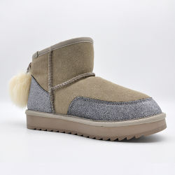 De In het groot Waterdichte Vrouwen van uitstekende kwaliteit van de Winter vormen de Duurzame Laarzen van de Schapehuid van het Leer van Schoenen voor Dames