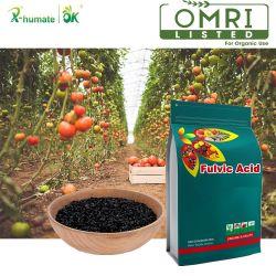 Disolución rápida bioestimulante orgánico Fulvic Acid Fulvate Leonardite potasio a partir de la fuente