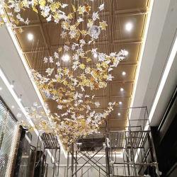 De Decoratieve Kroonluchter van het Project van het Blad van het glas voor de Hal van het Hotel, de Poort van de Lift, de Zaal van de Vergadering