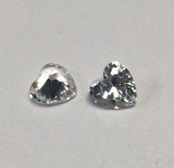 Оптовые цены от 5х5мм Сердечка белого камня для CZ браслет