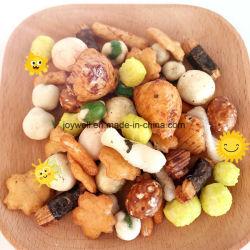 Coloridas galletas de arroz rico en proteínas de alta y la nutrición bocadillos saludables