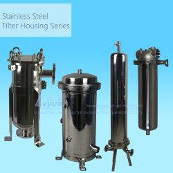 El tratamiento de aguas 10 de 20 pulgadas de Micro SS 304 Acero Inoxidable 316L solo cartucho de filtro de agua y múltiples viviendas para el filtro de aceite líquido Industrial