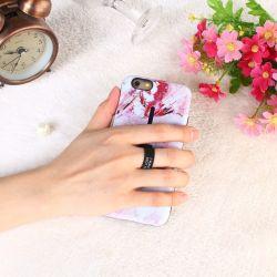Het Geval van de Telefoon van de Houder van de Tribune van de Ring van de Huid van de Manier van Sinbeda voor iPhone 6 6s X 7 8 plus het Marmeren Geval van de Telefoon van de Ring van het Silicium voor iPhone 8 Geval