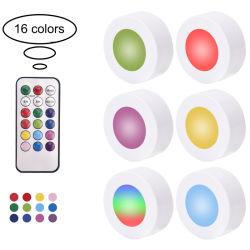 Mehrfarbenbatterie-Fernsteuerungsnachtlicht LED für Schrank