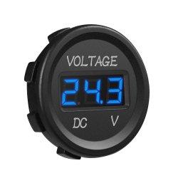 شاشة LED رقمية بجهد 12 فولت و24 فولت مقياس جهد الفولتية الخاص بناقل السيارة دراجة بخارية