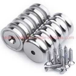 """De Magneten van de kop met Verzonken Gat voor #10 de Magneet van de Bout met Schroef 1.26 """" een Gezonde industrie van de Diameter om de Magneten van de Basis voor Magnetische Steun 90 Van de pond- Holding"""