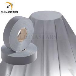 Il nastro riflettente chiaro di Grey d'argento cuce su tessuto riflettente materiale per vestiti
