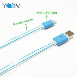 Forme de nouilles Câble USB de données de l'iPhone avec LED