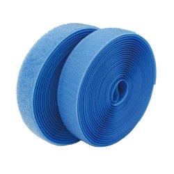 Nylonmischungs-Polyester-Haken und Schleifen-Befestigungsteil-Band in der blauen Farbe
