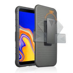 Venda a quente do mercado nos sacos de Telemóveis & casos TPU híbrido do PC Clip de cinto até Travar telefone móvel caso para a Samsung J4 Plus da Tampa Traseira