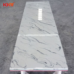 ورقة سطح صلبة من الحجر الرخامي الصناعي مقاس 6 مم للنعاس بالحمام أعلى