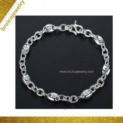 L'Imitation plaqué or Bijoux Bijoux de mode de couleur argent gros Bracelet pour hommes