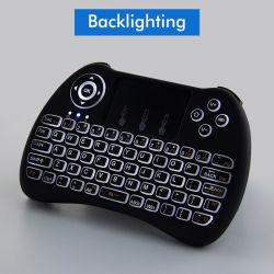 H9 2.4GHz Wireless Mini Clavier ordinateur de poche avec la souris de l'air rétroéclairé RVB