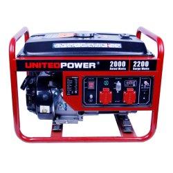 Puissance nominale de 2.4KW et AC Phase unique type de sortie 12 V DC générateur à essence portable