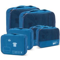 6 팩 내수성 휴대용 수하물 보관소 구성 포장 큐브 여행용 가방