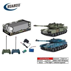 2 in 1 Rotate 180 de Afstandsbediening Tank van Degrees Light RC Tank Toy Battle met Voice