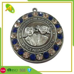 De douane stelt de Ambacht van de Medaille van het Koper van de Sport van het Metaal van de Rots met het Lint van de Vorm van H (in werking 203)