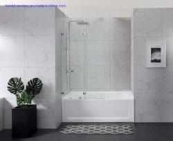 6mm Glas-Edelstahl-Minischarnier-Badezimmer-Badewannen-Dusche-Gehäuse