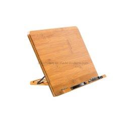 Bambuslehrbuch-Standplatz-Rezept-Anzeigen-Buch-Halter im Bett