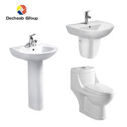 El cuarto de baño WC con inodoro inodoro y lavabo para casa y proyecto de la escuela/Hospital/Villa