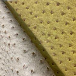La imitación de patrón de avestruz cuero de cocodrilo de PVC de tela para hacer Bolsos Zapatos