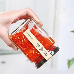Effacer des pots de miel en verre Carré Bon Marché unique pour la confiture
