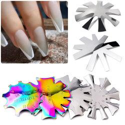 لوحة بلاستيكية من الفولاذ المقاوم للصدأ موديل السيل البلوري صنع قالب من الفولاذ المقاوم للصدأ قالب نقل ملمع Nail Plate لطباعة أداة Nail عالية الجودة