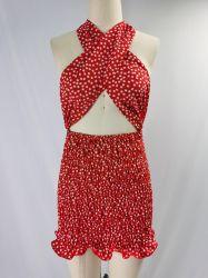 2021 Nouvelle Collection s'entrecroisent dos ouvert Body robe pour les femmes