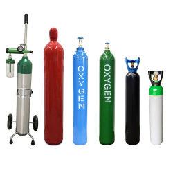 أسطوانة الغاز الصينية موردين أسطوانة الأكسجين مع أوكسيجنو السعر الجيد نظام 50L 200bar Cga540 مع منظم