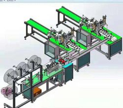 قناع الوجه 3 طبقات آلة قناع لواحدة من ماكينة بقناع (القناع) ذات السرعة العالية 7000PCS في الساعة بسعر منخفض مع شهادة CE