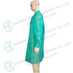 2021 Neues Design Green PP Lab Coat Factory Supply