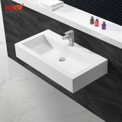 新しいモデルの贅沢な固体表面の浴室の携帯用洗浄手の芸術の洗浄の石造りの洗面器