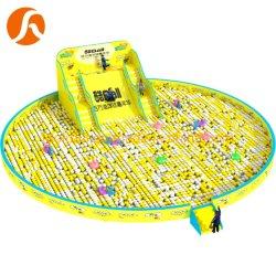 Mcdonalds Commercial gigante precio de fábrica de forma redonda grande piscina de bolas con el diablo diapositiva
