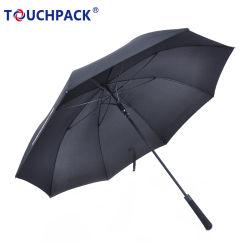 Un fuerte tejido Windproof 210t 3 Viajes plegado paraguas 9 costillas