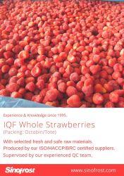 IQF Morangos congelados Strawberres enumerou,/Dados/Fatias/em açúcar, Grau A/A+B/B, Foodservice/Retalho/Industrial, Puré de morango com sementes/sem sementes