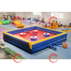 La aventura Polo Gladiator Arena justas inflable 6x6m Juego inflable Joust