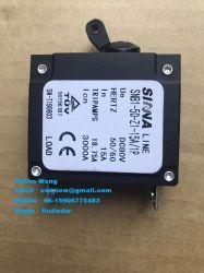 Hidráulico disyuntor miniatura magnético DC AC 1 Pole MCB para equipos, generador de la Marina, 1-50A