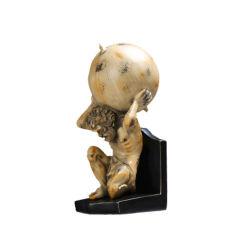جديد يحمل كرة رجل نحت [بووكند] راتينج صنع كتاب حامل قفص حلية لأنّ [ستثدي رووم] مكتب مجمّع