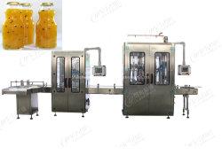 Frasco de vidro plástico totalmente automático de bebidas de enchimento de suco de laranja máquina de processamento de embalagem